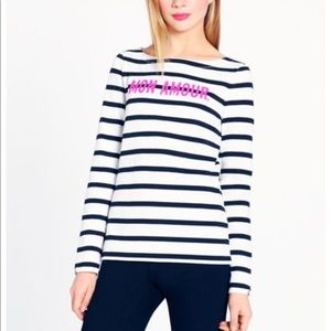 Kate spade mon amour striped sweater